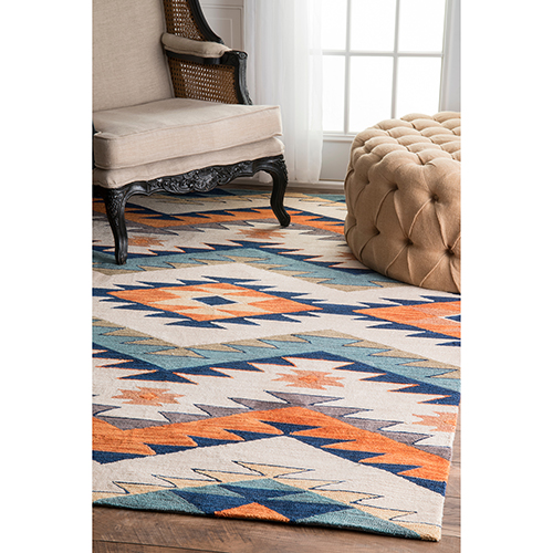 Tribal Rhona Multicolor Rectangular: 4 Ft. x 6 Ft. Rug