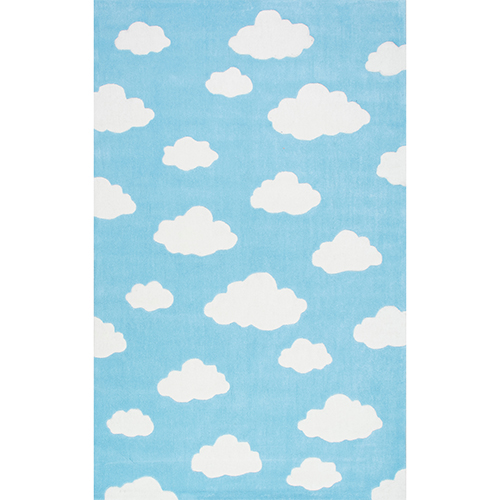 nuLOOM Cloudy Sachiko Blue Runner: 2 Ft. 6 In. x 8 Ft. Rug
