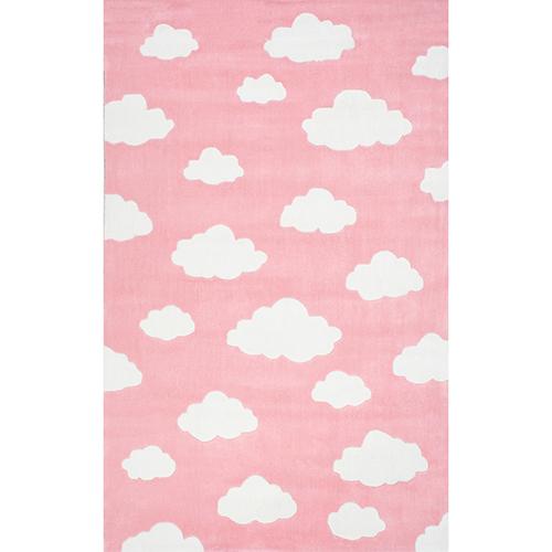 Cloudy Sachiko Pink Runner: 2 Ft. 6 In. x 8 Ft. Rug