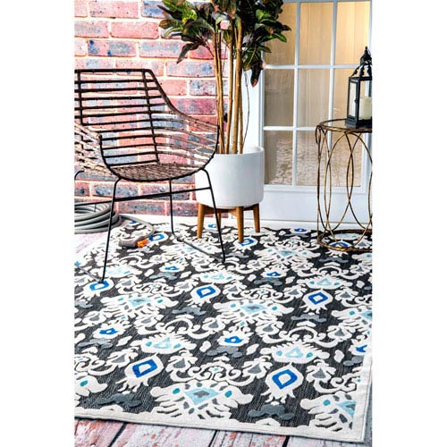 Outdoor Black Rectangular: 5 Ft. x 8 Ft. Area Rug