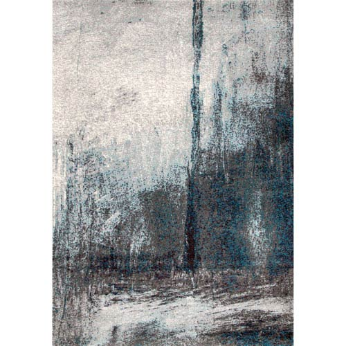 nuLOOM Noreen Abstract Grey Rectangular: 4 Ft. 1 In. x 6 Ft. Rug