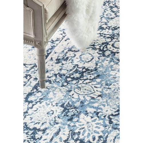 nuLOOM Vintage Floral Boisvert Blue Runner: 2 Ft. 6 In. x 8 Ft. Rug