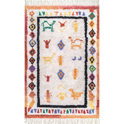 Leslie Ivory Rectangular: 5 Ft. x 8 Ft. Rug