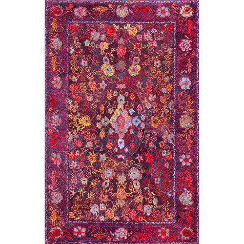 Meaghan Purple Rectangular: 5 Ft. x 8 Ft. Rug