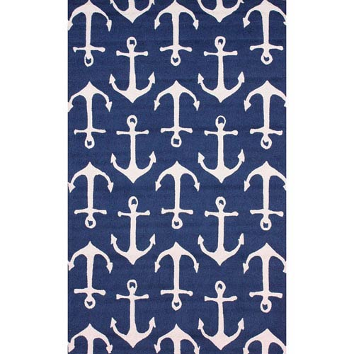 Despina Indoor/ Outdoor Area Navy Rectangular: 2 Ft. x 3 Ft. Outdoor Rug