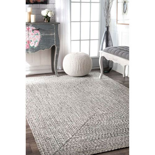 Braided Lefebvre Salt and Pepper Rectangular: 3 Ft. x 5 Ft. Rug