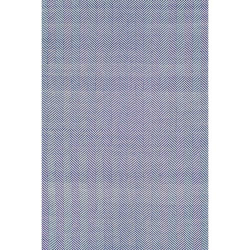 nuLOOM Herringbone Cotton Navy Rectangular: 5 Ft. x 8 Ft.
