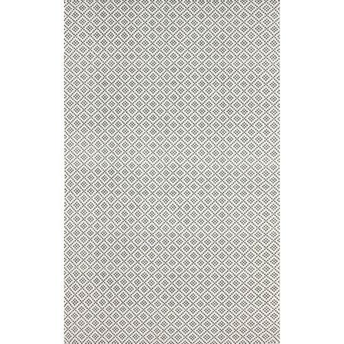 Diamonds Cotton Trellis Grey Rectangular: 5 Ft. x 8 Ft.