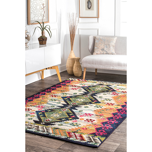 Multicolor Vintage Aztec Vinnie Rectangular: 5 Ft. 3 In. x 7 Ft. 7 In.