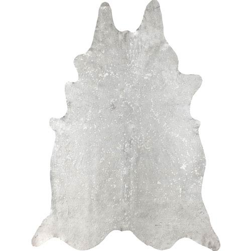 Dorian Cowhide Metallic Beige Shaped: 5 Ft. x 7 Ft.  Rug