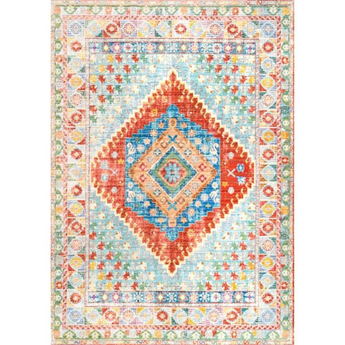 nuLOOM Multicolor Runner: 2 Ft. 6 In. x 8 Ft. Rug