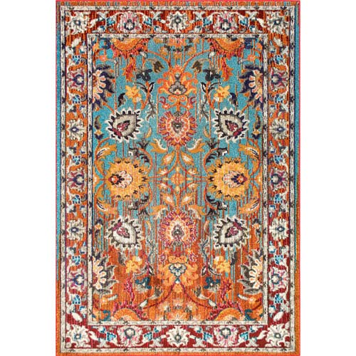 Floral Mallory Multicolor Rectangular: 3 Ft. x 5 Ft. Rug