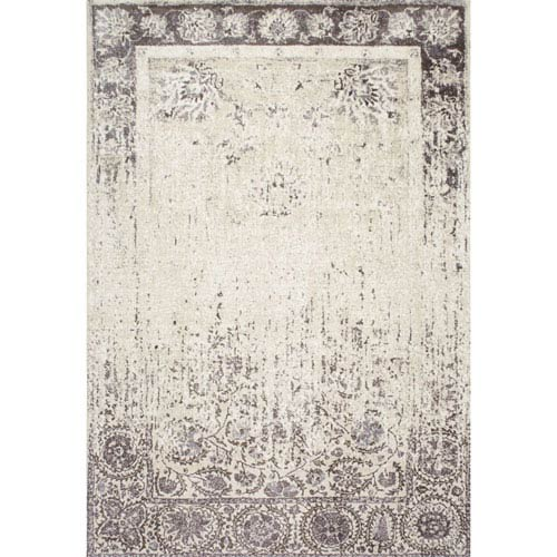 nuLOOM Distressed Hannelore Medallions Beige Rectangular: 4 Ft. x 6 Ft.