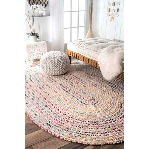 Ivory Oval: 5 Ft. x 8 Ft. Rug