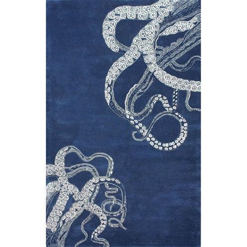 Octopus Tail Navy Rug