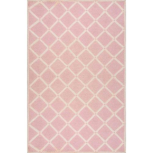 Pink Rectangular: 3 Ft. x 5 Ft. Rug