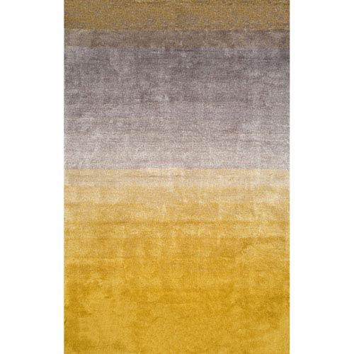 nuLOOM Handmade Ombre Yellow Shag Runner: 2 Ft. 6 In. x 8 Ft.