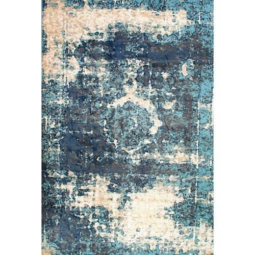 nuLOOM Vintage Lindsy Blue Rectangular: 3 Ft. x 5 Ft. Rug