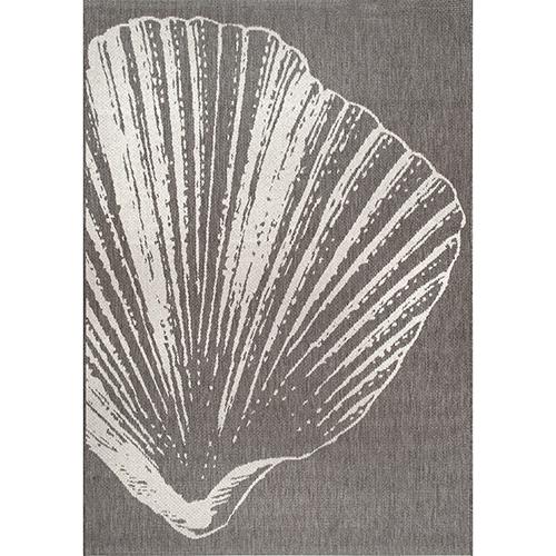 nuLOOM Thomas Paul Fan Seashell Grey Rectangular: 5 Ft. 3 In. x 7 Ft. 6 In. Rug