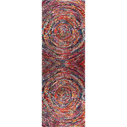Ardelle Swirl Shaggy Multicolor Rectangular: 3 Ft. 3 In. x 5 Ft. Rug