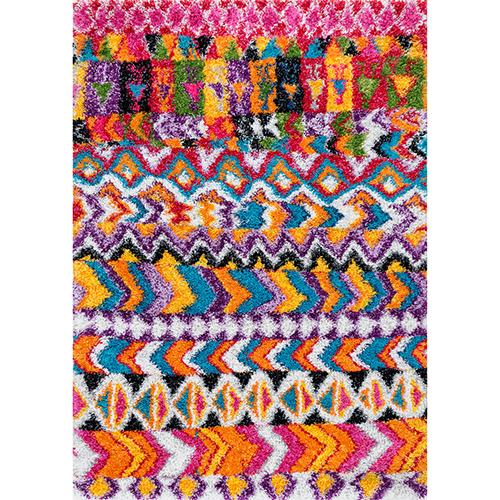 nuLOOM Multicolor Hussey Moroccan Shaggy Rectangular: 5 Ft. 3 In. x 7 Ft. 6 In.
