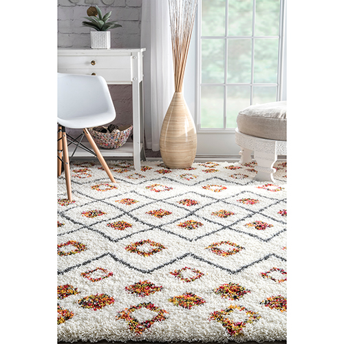 nuLOOM Cicely Shaggy White Runner: 2 Ft. 8 In. x 8 Ft. Rug