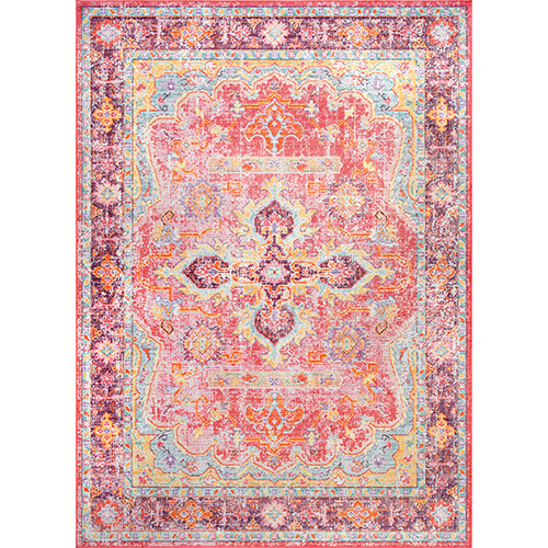 Vintage Anneliese Pink Rectangular: 4 Ft. 3 In. x 6 Ft. 6 In. Rug