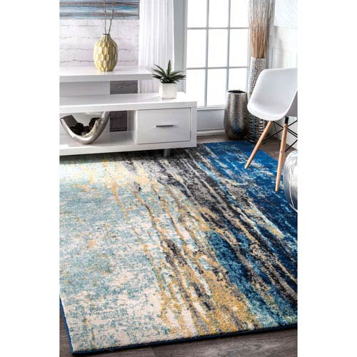nuLOOM Blue Rectangular: 9 Ft. 10 In. x 14 Ft. Rug