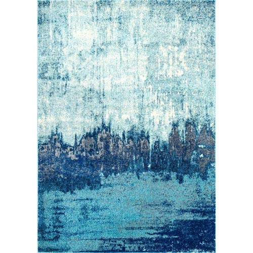 Alayna Abstract Blue Rectangular: 9 Ft. x 12 Ft. Rug