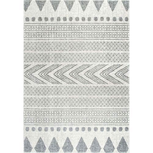 nuLOOM Shaina Tribal Grey Runner: 2 Ft. 8 In. x 8 Ft. Rug