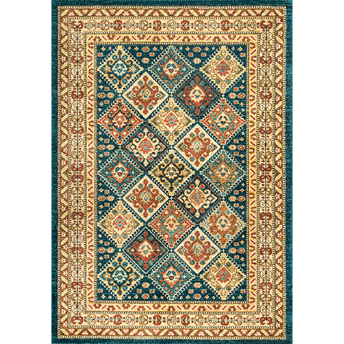Tribal Tiles Cyndi Green Rectangular: 4 Ft. x 6 Ft. Rug