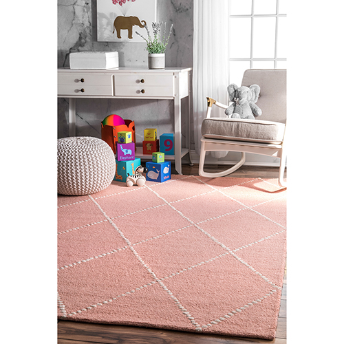 Baby Pink Hand Tufted Elvia Runner: 2 Ft. 6 In. x 8 Ft.
