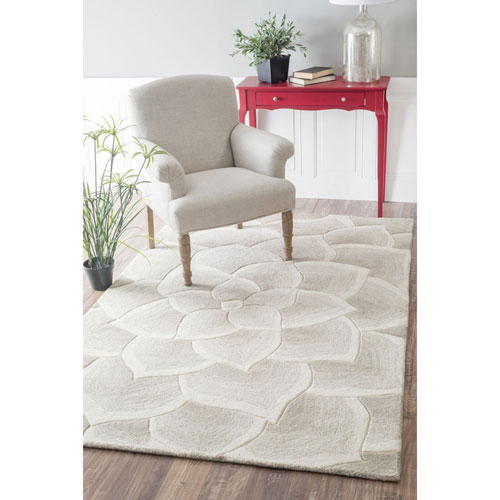 Ivory Rectangular: 8 Ft. 3-Inch x 11 Ft. Area Rug