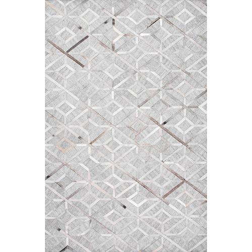 nuLOOM Handmade Cowhide Chanda Grey Rectangular: 4 Ft. x 6 Ft. Rug