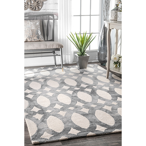 nuLOOM Grey Hand Looped Nellie Rectangular: 3 Ft. x 5 Ft.