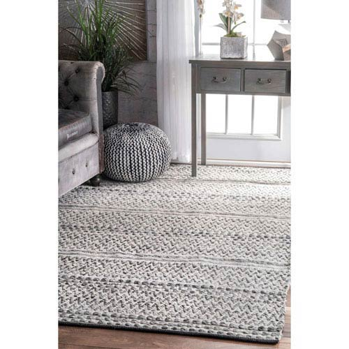 Silver Rectangular: 7 Ft. 6 In. x 9 Ft. 6 In. Outdoor Rug