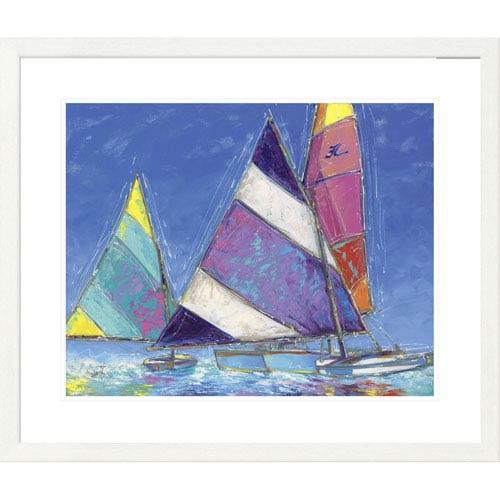 Global Gallery Saucy Sails By Sambataro, 28 X 32-Inch Wall Art