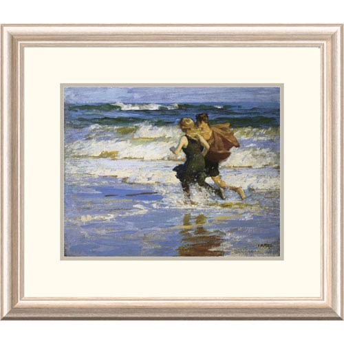 Global Gallery At The Beach By Edward Henry Potthast, 20 X 24-Inch Wall Art