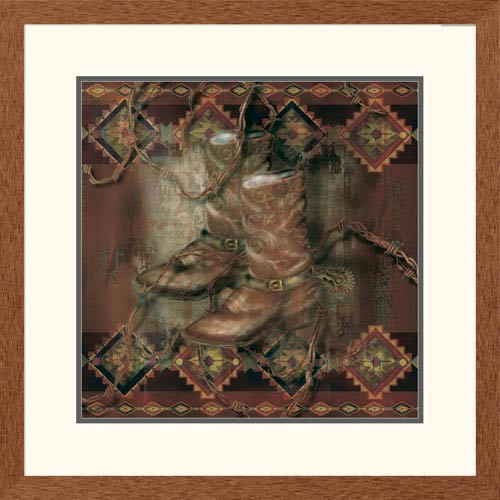 Global Gallery Western Boot By Alma Lee, 26 X 26-Inch Wall Art