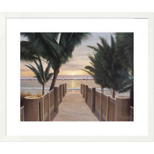 Global Gallery Palm Promenade By Diane Romanello, 28 X 32-Inch Wall Art