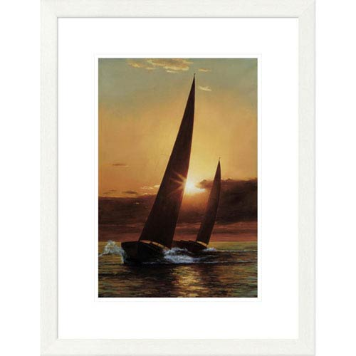 Global Gallery Red Sails By Diane Romanello, 26 X 20-Inch Wall Art