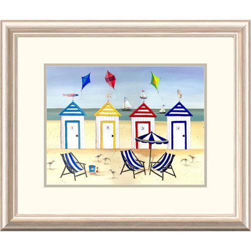 Global Gallery Beach Houses By Katharine Gracey, 20 X 24-Inch Wall Art