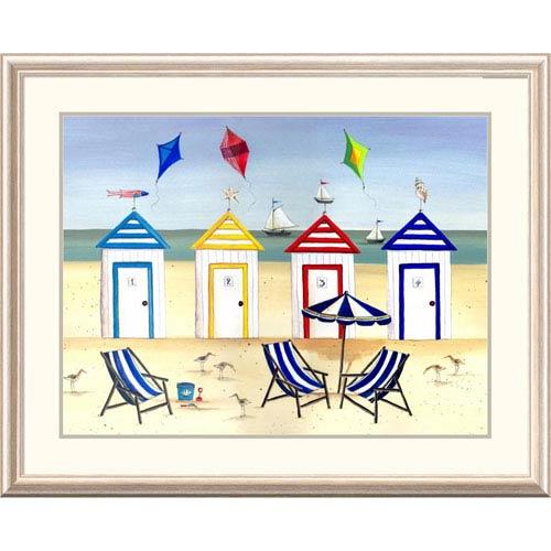 Global Gallery Beach Houses By Katharine Gracey, 32 X 40-Inch Wall Art