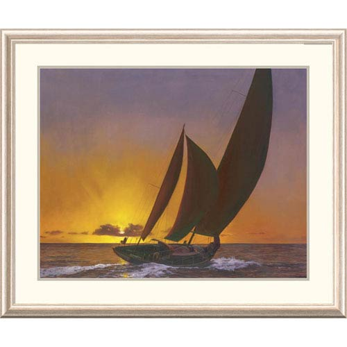Global Gallery Sails In The Sunset By Diane Romanello, 32 X 40-Inch Wall Art