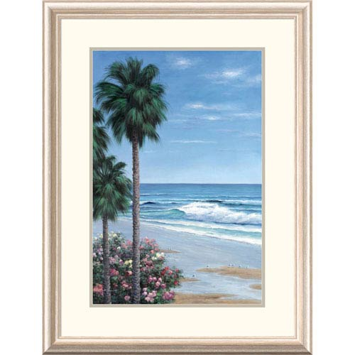 Global Gallery Beach Place By Diane Romanello, 32 X 24-Inch Wall Art