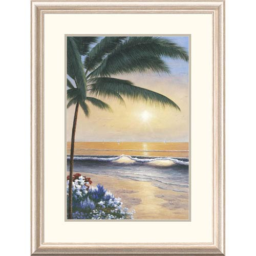 Global Gallery Palm Beach Sunrise By Diane Romanello, 32 X 24-Inch Wall Art