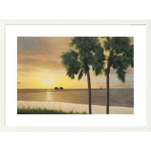 Global Gallery Naples Sunset By Diane Romanello, 28 X 38-Inch Wall Art