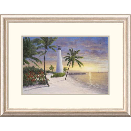 Global Gallery Lighthouse Key Biscayne By Diane Romanello, 20 X 26-Inch Wall Art