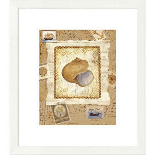 Global Gallery Ship To Shore Shells I By Lisa Ven Vertloh, 22 X 19-Inch Wall Art