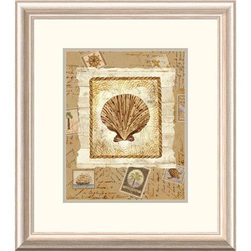 Global Gallery Ship To Shore Shells Ii By Lisa Ven Vertloh, 22 X 19-Inch Wall Art